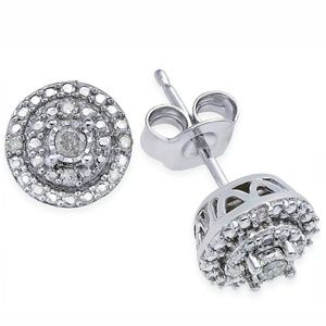Diamond Stud Earrings (1/10 ct. t.w.) in Sterling